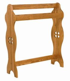 Amish Made Wooden Green Quilt Rack 6124