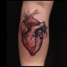heart by Victor Montaghini, Sao Paulo, Brazil | watercolor tattoos