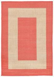 Trans-Ocean Terrace Border Orange Area Rug