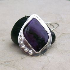 Designer Sterling Silver Rare Purple Semiprecious by HEvansGems