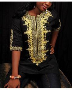African Attire Women casual shirt AAWCS0012