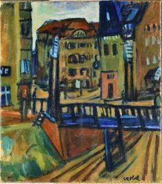 #BÉLA_CZÓBEL  * Berlini, 1920 Fauvism, Post Impressionism, Budapest, Berlin, Utca, Painting, Goodies, Fall Living Room, Exhibitions