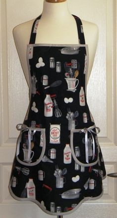 Vintage Retro Apron Handmade Full Apron with Baking by SewElated