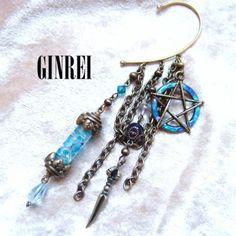 【銀玲〜ginrei〜】【蓄光】蝶の標本イヤーフック
