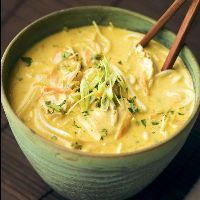 Thai Coconut Curry Soup... just replace the rice noodle with shiritake