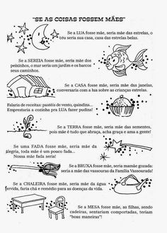 Professora Juce: Plano de aula - Dia das mães na Educação Infantil Just Love Me, Love My Job, A30, Sheet Music, Homeschool, Classroom, Teaching, Education, Internet