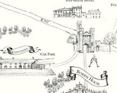 Custom bespoke maps by Appleberry Atelier Illustrated Maps, Bespoke, Illustrators, Cool Designs, Atelier, Taylormade, Illustrator, Illustrations