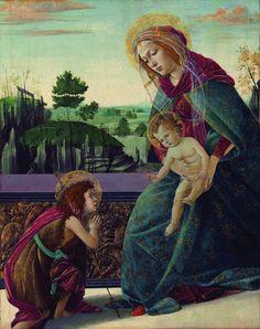Sandro Botticelli-Madonna con bambino e san Giovanni Battista(Madonna Rockfeller),collezione privata
