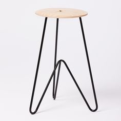 High Stool: Ash on Black by Such and Such