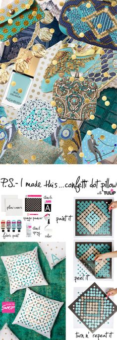 P.S.- I made this...Confetti Dot Pillow with @ilovetocreate.com #PSIMADETHIS #DIY #TulipForYourHome