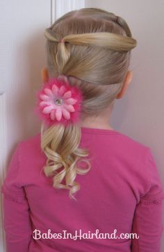 Toddler Version of Row of Fancy Ponytails (11)