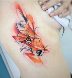 animal tattoo Sleeve Watercolors is part of Watercolor Animal Tattoos Best Tattoo Ideas Gallery - Nedielko Fox tattoo watercolor Girly Tattoos, Pretty Skull Tattoos, Lace Skull Tattoo, Trendy Tattoos, Body Art Tattoos, Tattoo Drawings, Small Tattoos, Sketch Tattoo, Wolf Tattoo Design