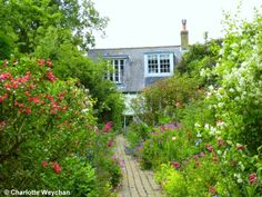 Monk's House near Lewes, former home of writer, Virginia Woolf,
