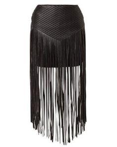 Evil Twin TOTAL RECALL Leather skirt black, Zalando