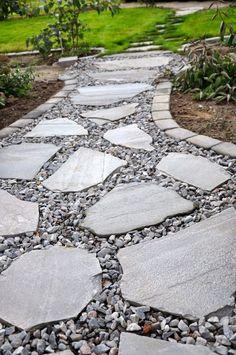 Installer une allée en pierres naturelles en 2019 | Jardins ...
