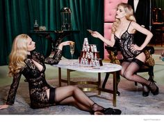 Ashley Smith + Dioni Tabbers Star in Agent Provocateurs Sexy Fall Lookbook Images