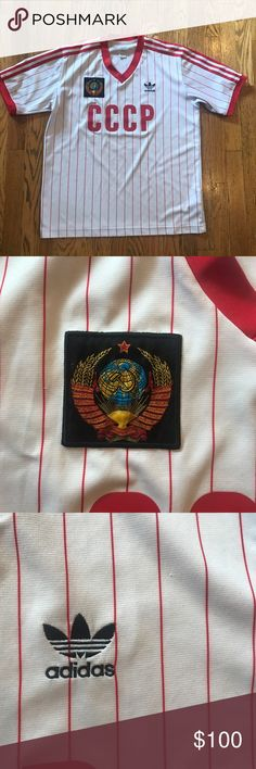 ⚽️Adidas original soviet Russia soccer jersey⚽️ Adidas originals soviet Russia soccer/football jersey! Good condition, size medium. Some of these are going for up to 700$ on eBay. RARE and hard to find jersey! adidas Shirts Tees - Short Sleeve