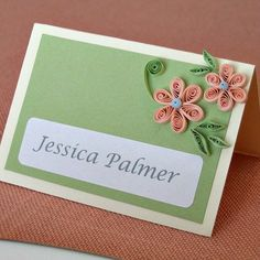 Quilling 101: Learn step-by-step to make basic quilled flowers and leaves. Decorate bridal shower and wedding place cards and favor boxes.