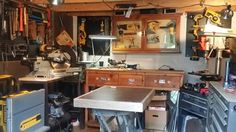 The actual Woodshed of Immaculate Conception. Its nothing more than a 10x12 microshop where I preform most of my miracles. Getting it cleaned was definitely a miracle.