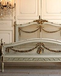 If only I had 3 grand to spend. Fabulous Full Vintage French Style Bed with gorgeous caning, and oh so dreamy gilt floral swag carvings. It just doesn't get any better than this one! Perfect to dream your sweetest dreams in, or for your guest room to give your guests the royal treatment.