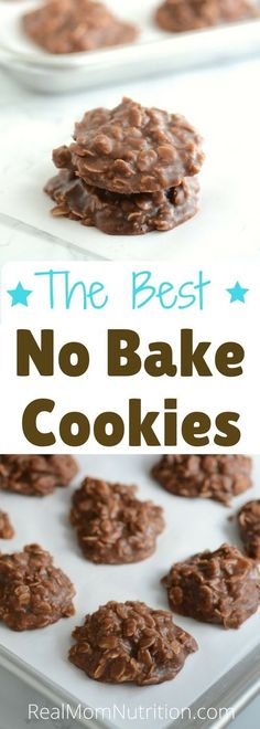 These No Bake Cookies are a classic, loaded with oats and chocolate-peanut buttery goodness--perfect for a special treat! via @https://www.pinterest.com/rmnutrition/