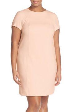Vince Camuto Short Sleeve Shift Dress (Plus Size)