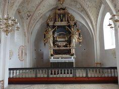 Baroque interior of an earlier Gothic 15th century built Church - Dråby Kirke i Syddjurs kommune - Ebeltoft, Denmark