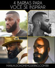 Quatro barbas diferentes para você se inspirar.