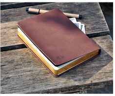 Golden Vintage PU Leather Bound Journals Diary Blank Pages Notebooks to write in #Notebook
