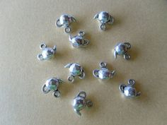 5 Pieces Tibetan Silver Tea Pots charms