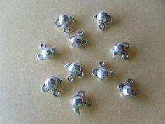 5 Pieces Tibetan Silver Tea Pots charms