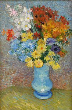 "lonequixote: ""Flowers in a Blue Vase ~ Vincent van Gogh """