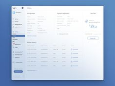 Billing page by uixNinja - Dribbble
