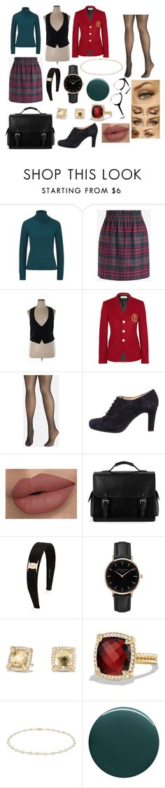 """""""the rich b*tch from horned serpent"""" by hikick ❤ liked on Polyvore featuring ESCADA, J.Crew, H&M, Yves Saint Laurent, Avenue, Unisa, Aspinal of London, Salvatore Ferragamo, Topshop and David Yurman"""
