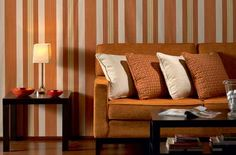 Orange Trend and New FabricWallpaper