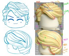 I have a hard time drawing Lloyd's hair (even Kai's hair is easier than this!), so I found this as a useful reference