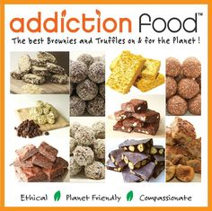 We're delighted to welcome Addiction Food to Cruelty Free Festival 2015! Come and see them for unique delicious hand made 100% plant based & gluten free sweets and healthy treats. The best brownies and truffles on & for the planet as well as organic raw bars, bliss balls & superfood powerballs.