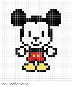 Disney Mickey cross stitch.