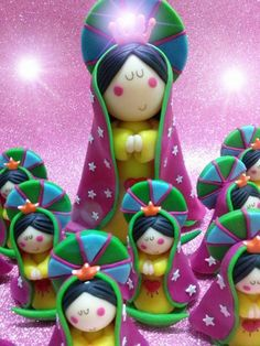Virgen de Guadalupe: adorno para torta y souvenirs.-