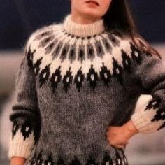 Fair Isle Knitting Patterns, Knitting Machine Patterns, Knitting Designs, Knit Patterns, Circular Knitting Needles, Knitting Stitches, Baby Knitting, Crochet Baby, Knit Vest Pattern
