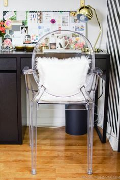 Luxe Report: Ghost Chair & Vanity | Decor | Pinterest | Ghost ...
