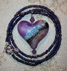 Check out this item in my Etsy shop https://www.etsy.com/listing/215791279/lavender-heart-necklace