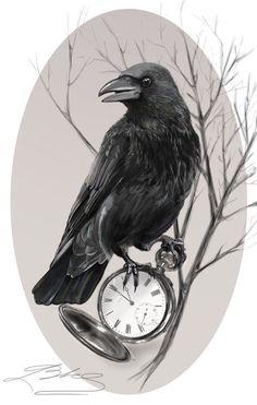 Turn this bird on against the original bird on the sleeve tattoo – tatoo Crow Art, Raven Art, Bird Art, Tattoo Drawings, Body Art Tattoos, Fox Tattoos, Tree Tattoos, Deer Tattoo, Tattoo Ink