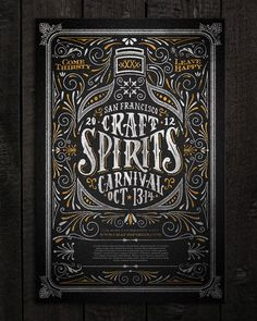 Craft Spirits Carnival poster Print Design Inspiration