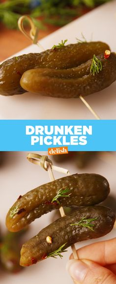 Drunken Pickles separate the true fans from the phonies. Get the recipe from Delish.com.