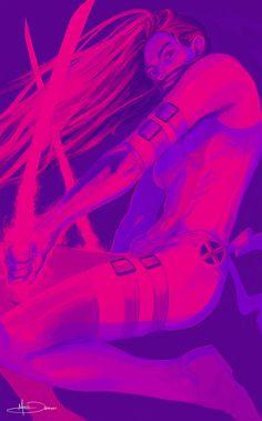 Psylocke by MattDeMino.deviantart.com on @deviantART
