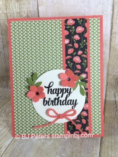 Check out how easily you can create this card with an easy and cheap product from Stampin' up!