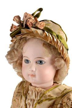 Beau bébé Jumeau première époque type portrait tête en biscuit