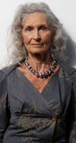Still at runway model at 82 www.linesofbeauty... #gray #grey #hair #aging #gracefully #silver #going