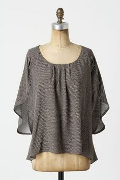 Great Summer Top from Anthropologie with white pants, pastel cigarette pants, cutoffs, and more! $78